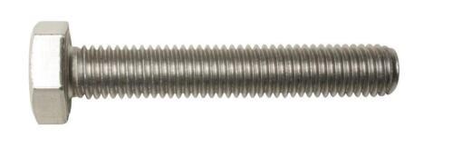 M5 x 10 Hex Head Set Screws Full Thread Bolts A2 stainless 10 Pack each DIN 933