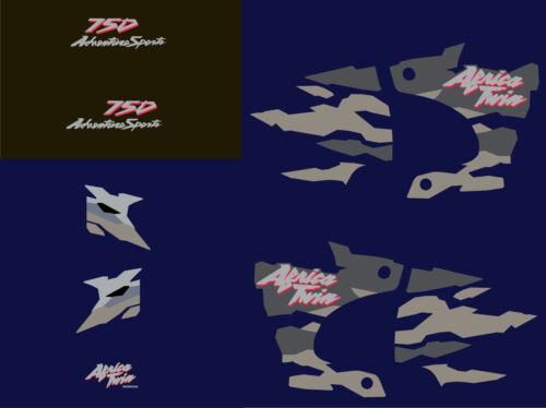 Africa twin 750 (1998 bleu nuit) autocollant sticker decal aufkleber moto