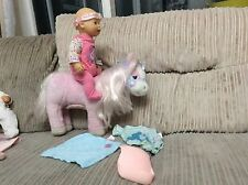 13 INCH BABY BORN WITH HER HORSE WHICH NEIGHS AND MAKES CLIP CLOPPING NOISES