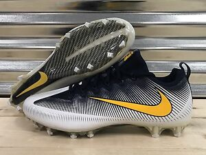 Nike Vapor Untouchable Pro PF Football Cleats Navy Yellow SZ 14