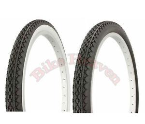 1-PAIR-Tire-Classic-Diamond-Style-24-034-x-2-125-Bicycle-Tire-Cruiser-Bike-CRUISER