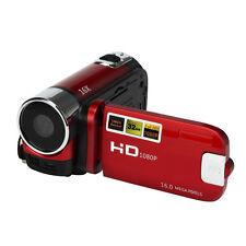 2.7'' Full HD USB 1080P 16M 16X Digital Zoom 32GB Vídeo Cámara DV Camera Rojo