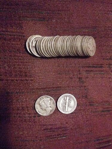 Better date 1935-S Mercury Dime 90/% Silver