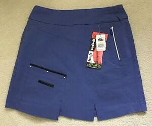 NWT-Women-039-s-Skinnylicious-Jamie-Sadock-Golf-Skort-Size-4-Color-Slate-W-Shorts