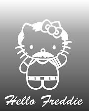 Queen Freddie Mercury classic VINYL DIE CUT STICKER, DECAL hello Kitti