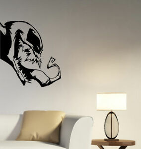 Venom Wall Decal Marvel Comics Superhero Vinyl Sticker Art Kids Room Decor Vm1 Ebay