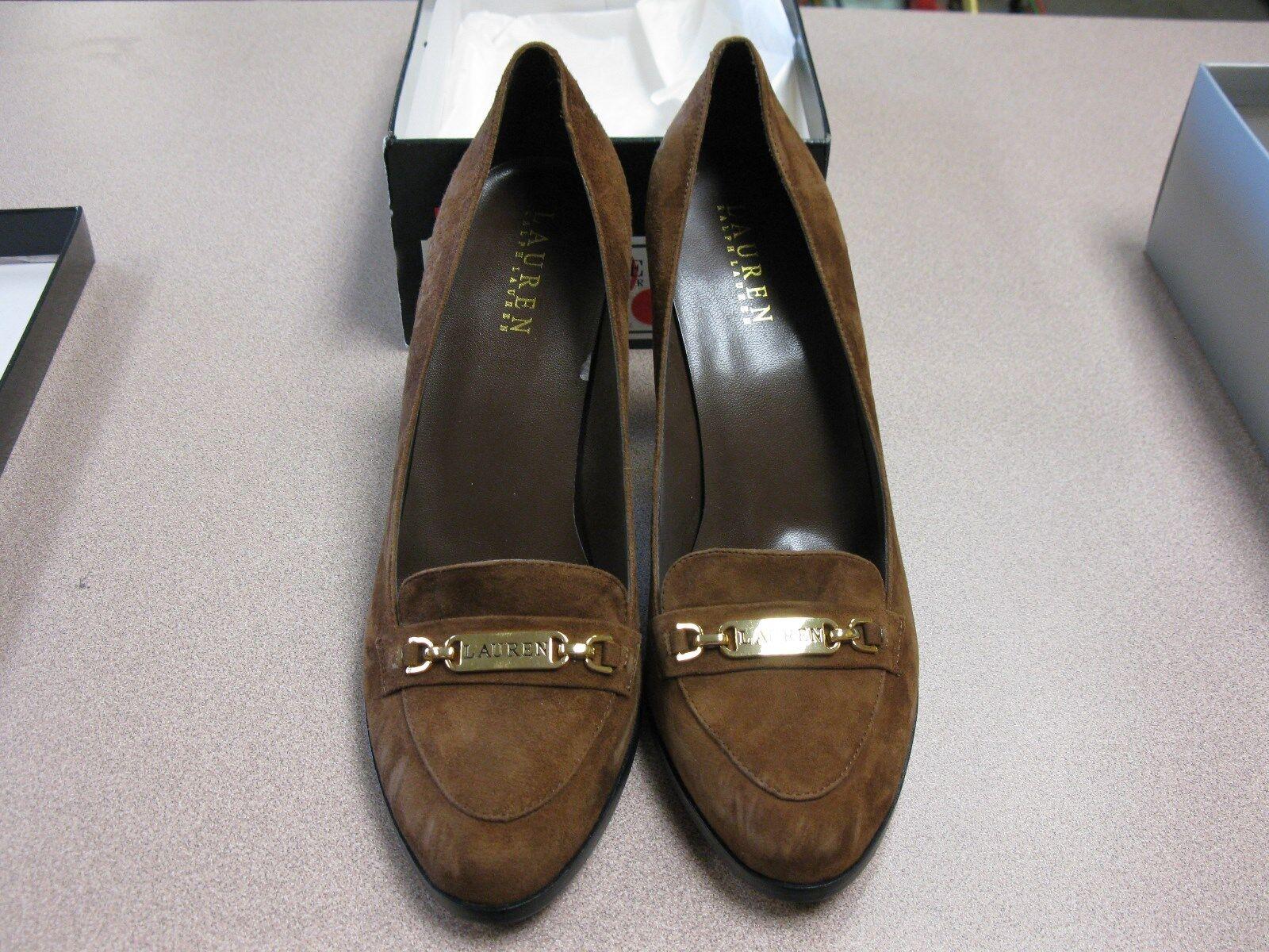 prendiamo i clienti come nostro dio Donna Donna Donna  Dimensione 10B Dark Saddle Karla  Suede Ralph Lauren High Heels Pumps scarpe.  merce di alta qualità e servizio conveniente e onesto