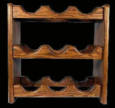 SOLID DARK OAK WINE RACK 9 BOTTLE