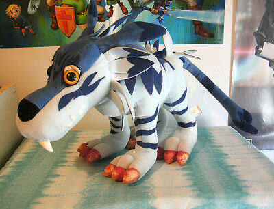 "Bandai Digimon Adventure Garurumon 12"" plush figure toy stuffed Japan rare"