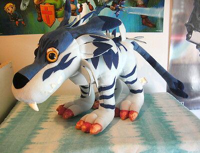 "Bandai Digimon Adventure Garurumon 12"" plush figure toy stuffed Japan rare"