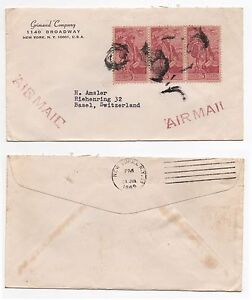 1965-USA-Air-Mail-Cover-NEW-YORK-NY-to-BASEL-SWITZERLAND-SG1250-block
