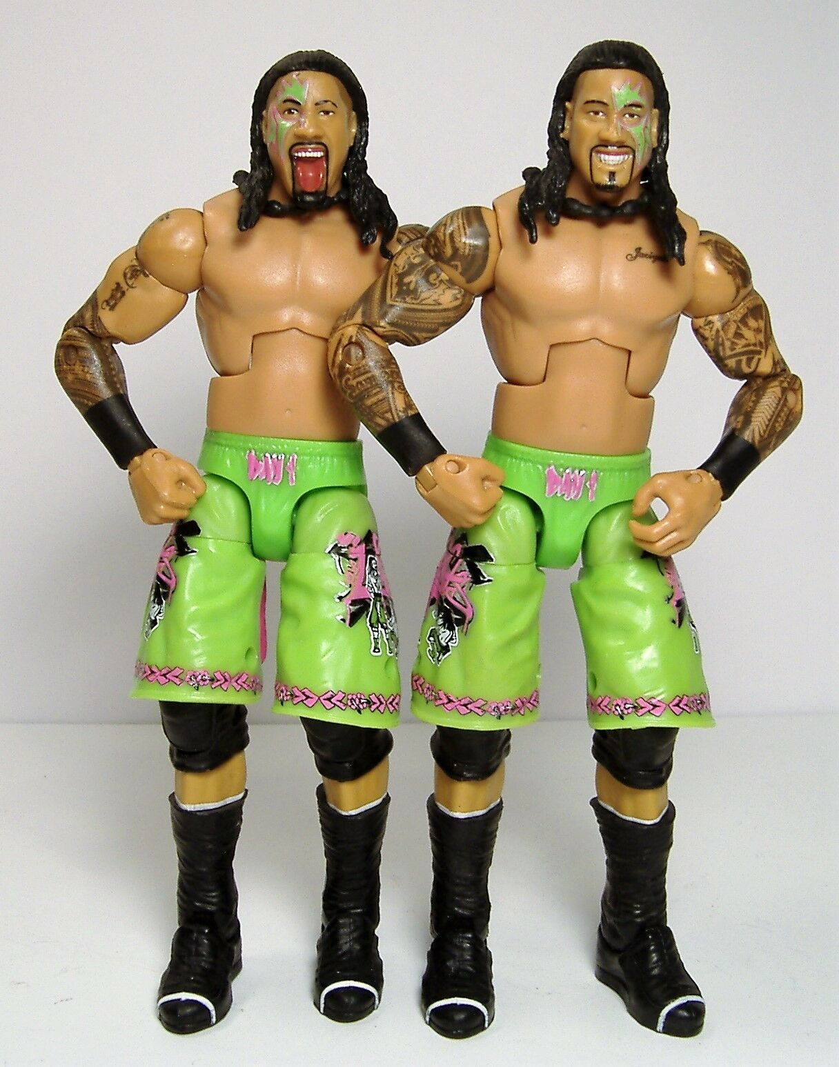 JIMMY & JEY USO ELITE WRESTLING FIGURES USOS TAG TEAM LOOSE SERIES 31 2014 RARE