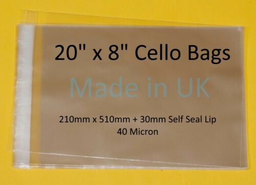 """20/"""" x Different Lengths Available Cellophane Display Bag"""