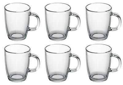 Bodum Bistro Glass Coffee Mugs  0.35L 12oz. Set of 6
