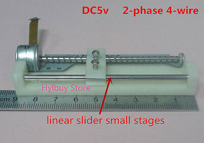 DC5v 2-phase 4-wire Stepper Motor long linear screw slider Stages CD-ROM Driver