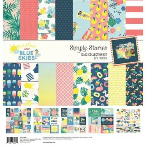 """Simple Stories Collection Kit 12/""""x12/""""-sunshine /& Blue Skies"""
