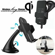 Qi Wireless Car Auto Charger Ladegerät Saugnapf Cradle Halter für Samsung S6 S7