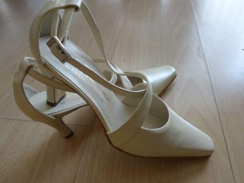 Anima lujo-Echt Leder-zapatos de novia, boda, crema; GR 36,5 NP: 142 €, nuevo + embalaje original