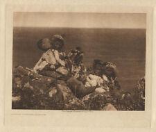 ORIGINAL PHOTOGRAVURE E.S. CURTIS INUIT/NATIVE AMERICAN PEOPLE IMAGE.