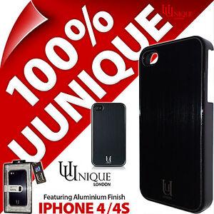 Uunique-Valise-En-Aluminium-Coque-Rigide-Housse-Metal-Noir-pour-Apple-iPhone-4