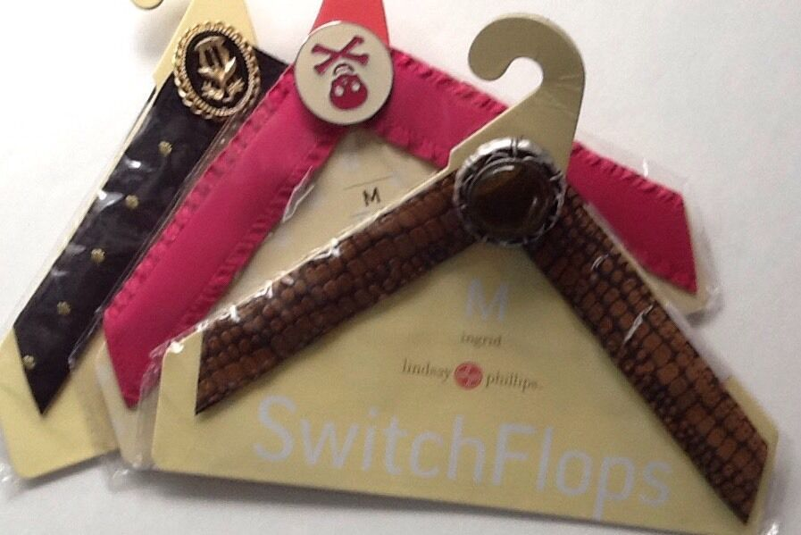 Lot Of Three Lindsay Phillips Switc FLOP STRAPS ~ M~ for Switch Flops Sandals