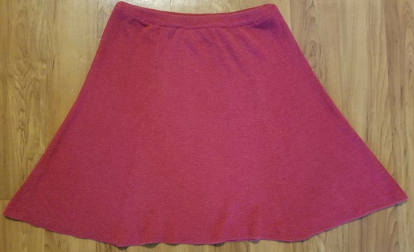 Double D Ranch Womens Size S Red Heavy Knit Paneled A Line Skirt