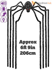 Animated Giant Spider Party Decoration Halloween Prop  Light Up Sound Movement