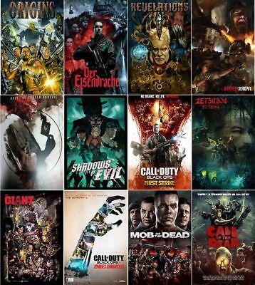Call Of Duty ORIGINS Black Ops 2 Zombie Art Silk Poster 24x36inch