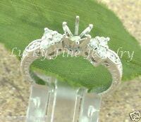 0.50 Ct Ladies Semi Mount Diamond Ring White Gold 14k Made In Usa