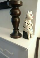 Hand carved and hand painted wooden folk art cat.
