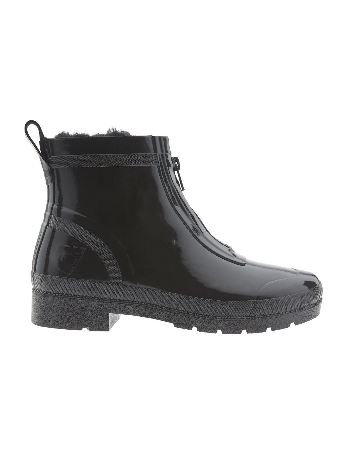 Athleta Lina Zip Short Shiny Rubber Rain Boot by Tretorn,Black SIZE 7 US (EU 38)