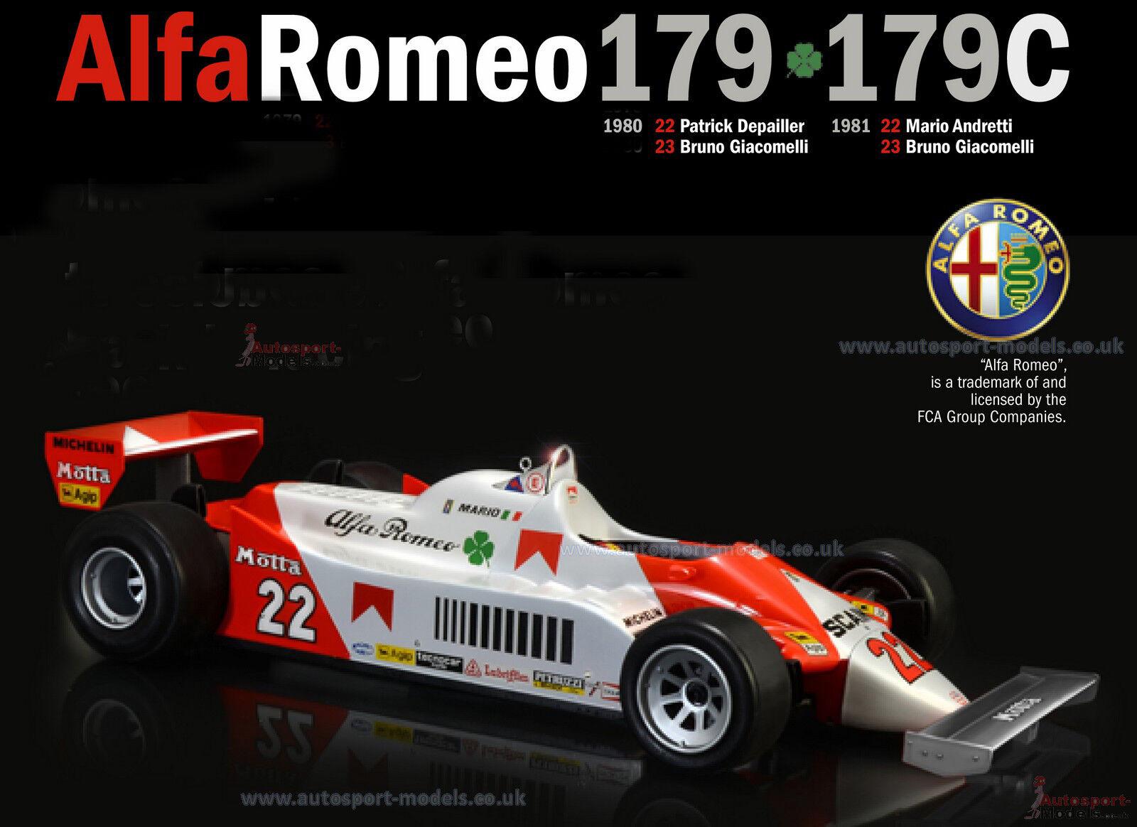 1 12 1980-81 Alfa Romeo 179   179C Giacomelli Depailler Andretti model kit 1 12