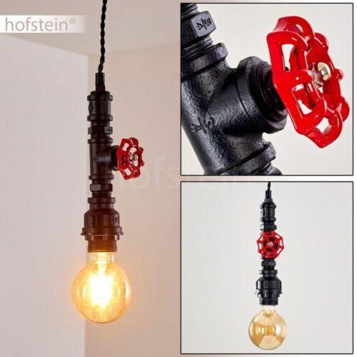 Retro Pendel Leuchte Hänge Lampen schwarz//rot Ess Wohn Schlaf Zimmer Beleuchtung