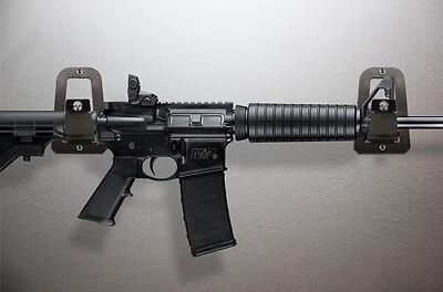 Stainless Steel Wall Mount Gun Rack Rifle Shotgun Hooks