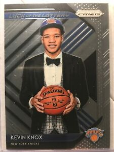 2018-19-PANINI-PRIZM-KEVIN-KNOX-LUCK-OF-THE-LOTTERY-INSERT-NY-KNICKS