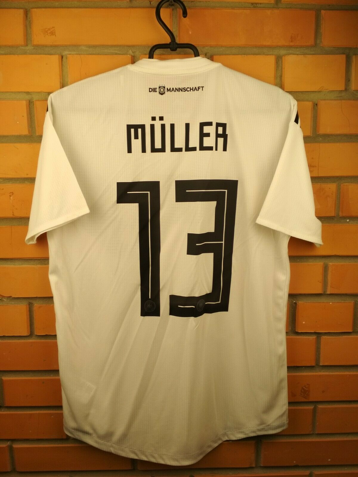Muller Germany authentic jersey medium 2019 home shirt BR7313 soccer Adidas