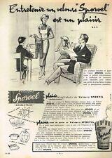 B- Publicité Advertising 1956 Les Vetements Velours Sporvel