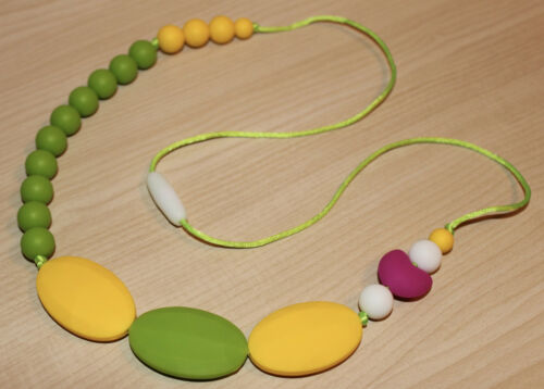 Silicone Baby Teether Teething Necklace Jewelry Packers Green Bay Football Fan