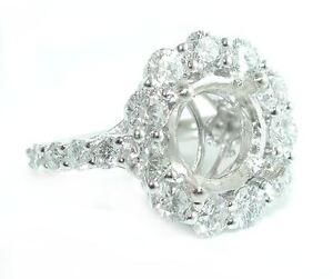 3-CT-BEAUTIFUL-Jumbo-Round-Halo-DIAMOND-Engagement-Ring-Setting-14K-WG