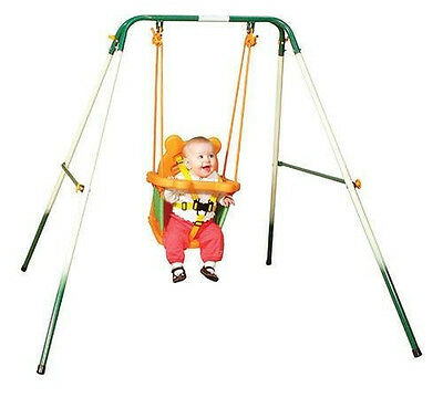 Sports Power Indoor Outdoor Toddler Folding Swing Set! Baby Kid Play Playground