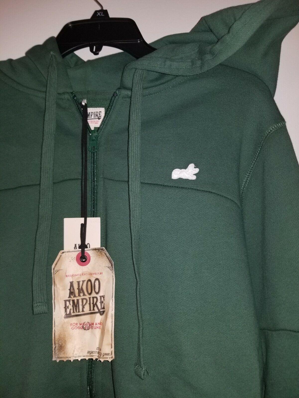 Akoo Jacket Hoodie Brand New Grün Größe 3XLARGE  80.00