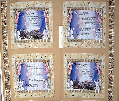 """35"""" Fabric Panel - Religious Amazing Grace Angel Pillow Case Springs"""