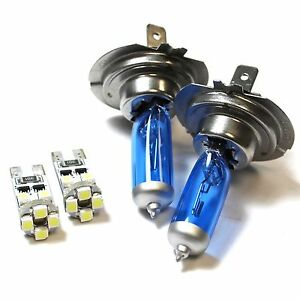 Renault Modus H7 501 55w ICE Blue Xenon HID Low//Slux LED Side Light Bulbs Set
