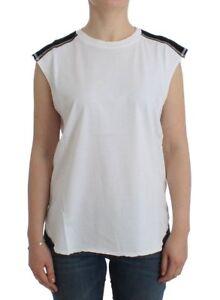 Pierre-Balmain-White-sleeveless-cotton-top