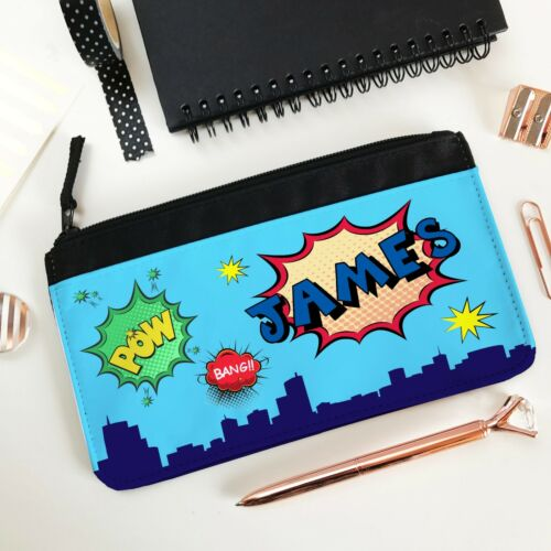 stationery bag Back to School Kids Personalised Pencil Case Comic Strip
