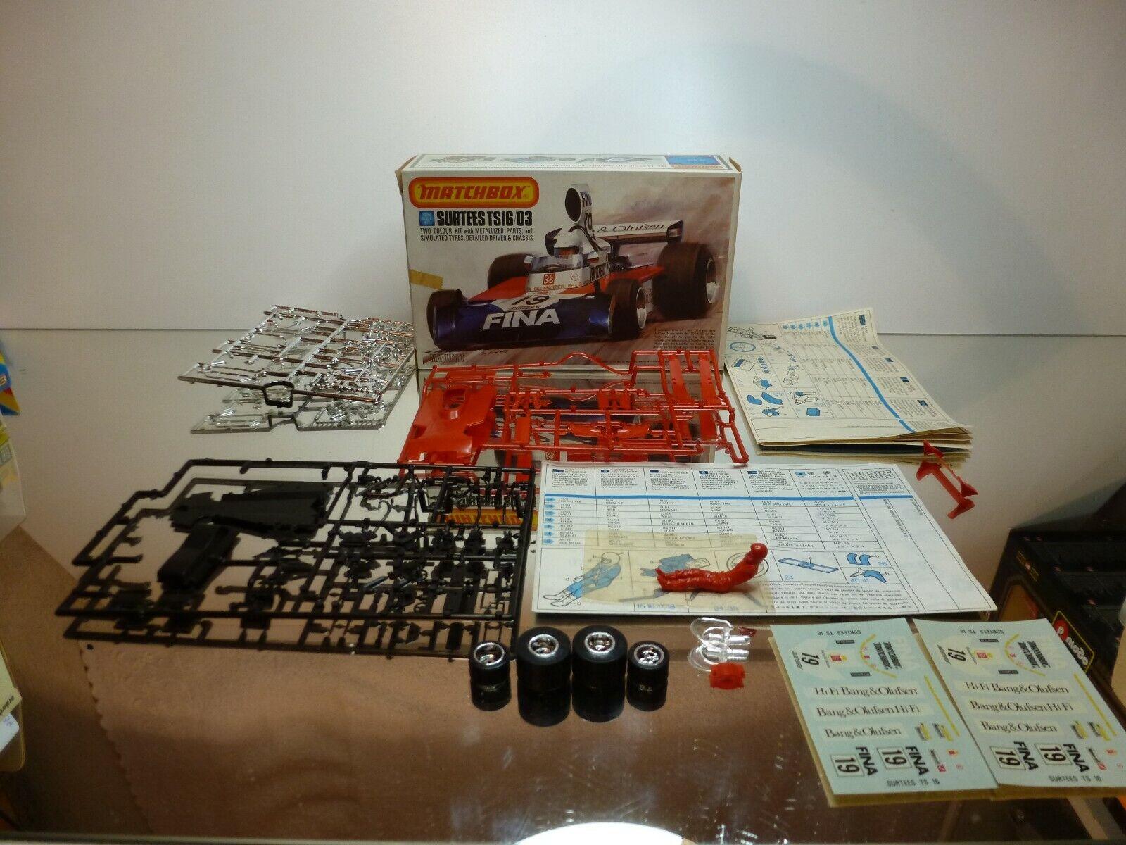 MATCHBOX KIT unbuilt SURTEES TS16 03 - JOCHEM MASS - rojo 1 32 - UNBUILT IN BOX