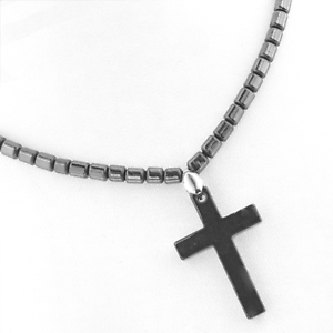 Boho-Hematite-Cross-Protection-Gypsy-Pendant-Bead-Necklace-PB28-Free-Gift-Box