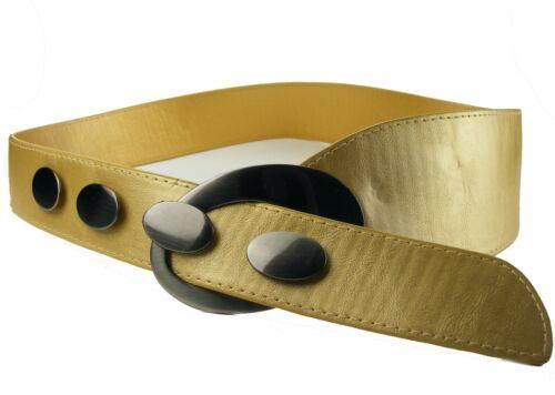 Breiter Hüftgürtel Taillengürtel große Schnalle gold  Damengürtel Gürtel  HG19D