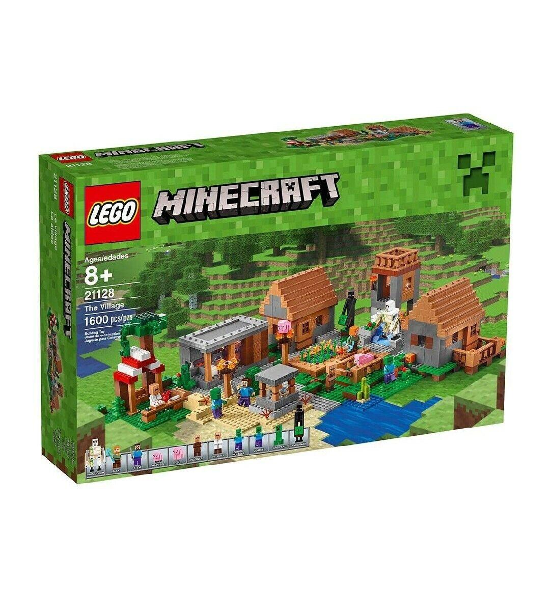 forma unica Lego Minecraft Minecraft Minecraft  The Village  21128 Retirosso  RARE  completare WITH scatola  le migliori marche vendono a buon mercato