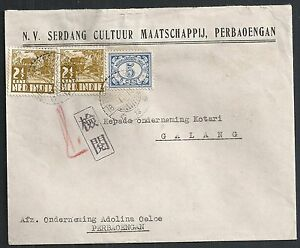 Japanese Occ Netherlands Indies covers 194? cens Firmcover Perbaoengan - Galang